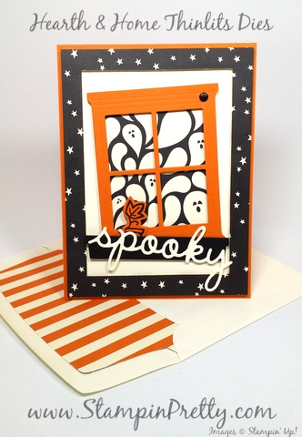 stampin up halloween card idea hearth home thinlits dies mary fish stampin pretty demonstrator blog happy haunting designer series paper