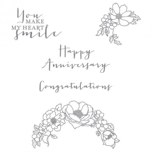 stampin up happy anniversary timeless love stamp set