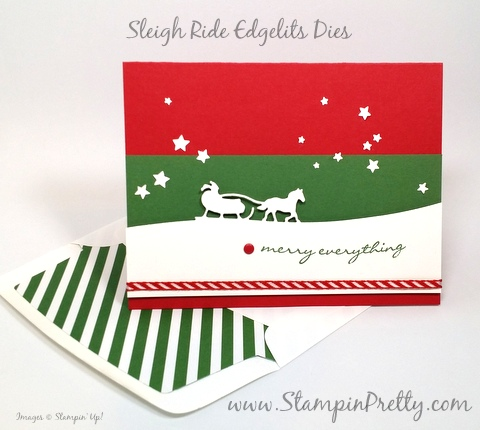 stampin up holiday christmas card ideas sleigh ride edgelits dies mary fish stampin pretty stampinup demonstrator blog pinterest