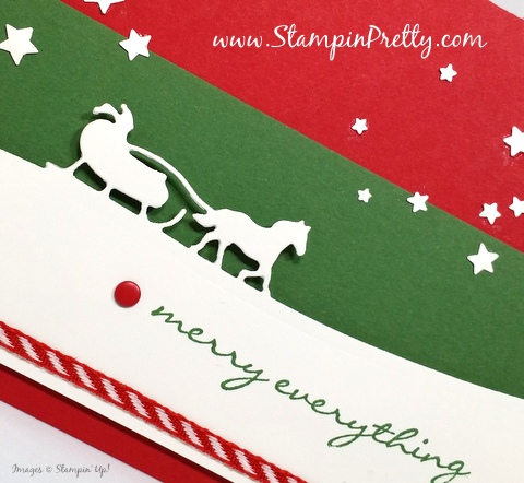 stampin up holiday christmas card ideas sleigh rides edgelits dies mary fish stampin pretty stampinup demonstrator blog