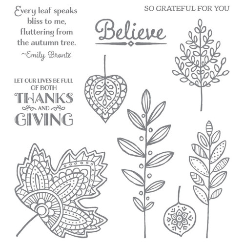 stampin up lighthearted leaves