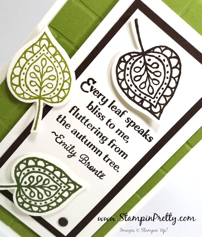 stampin up lighthearted leaves mary fish stampin pretty demonstrator blog leaflets framelits dies