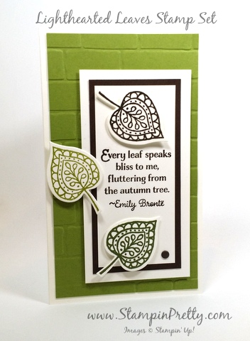 stampin up lighthearted leaves mary fish stampin pretty demonstrator blogs