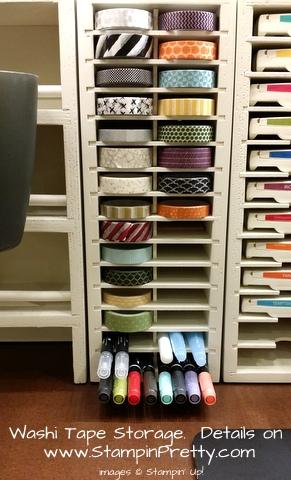stampinup washi tape storage stampnstorage