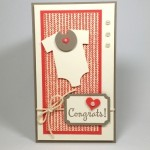 Baby's First Framelits Baby Card