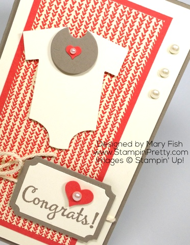 stampin up baby card idea babys first framelits dies mary fish stamping