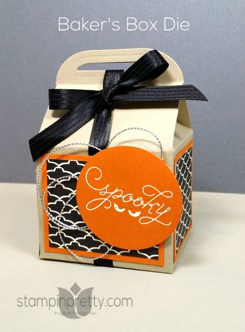 stampin up bakers die halloween treat box mary fish