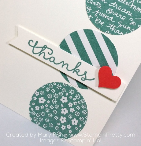 stampin up cottage greetings thank you card idea mary fish