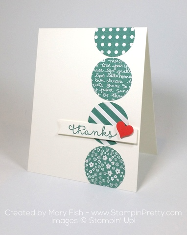 stampin up cottage greetings thank you cards mary fish