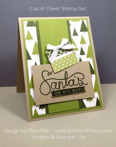 tampin up cup of cheer holiday card idea mary fish pinterest