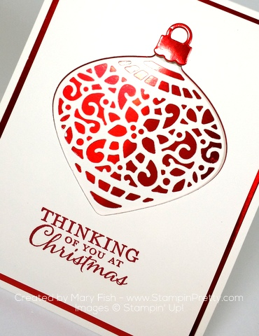 stampin up delicate ornament thinlits dies holiday cards ideas mary fish