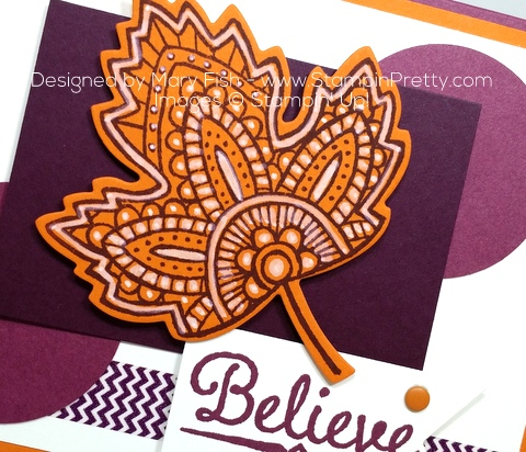 stampin up lighthearted leaves autumn card idea mary fish chalk marker