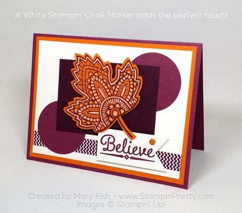 stampin up lighthearted leaves autumn card idea mary fish pinterest