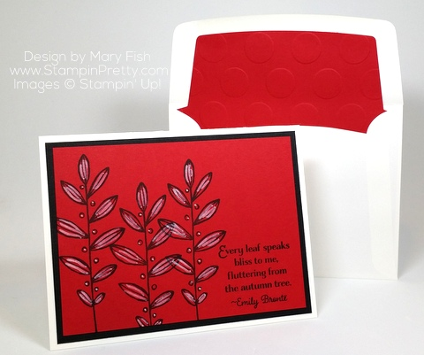 stampin up lighthearted leaves card ideas mary fish chalk marker
