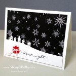Simple Saturday Silent Night Holiday Card