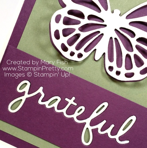 stampin up thank you card idea bold butterfly butterflies thinlits dies mary fish stampinup