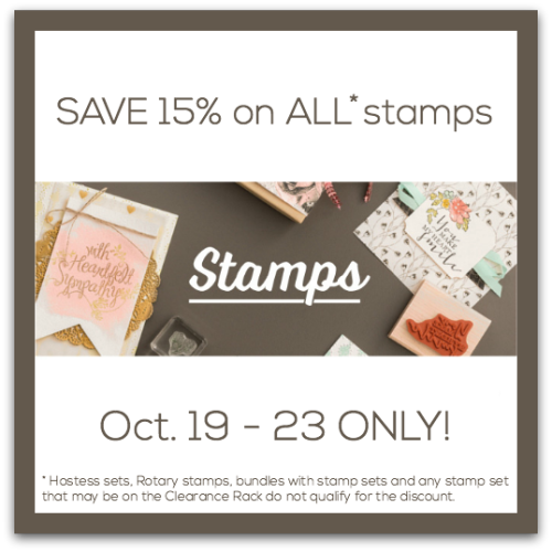 Save 15% on Stampin Up Stamps