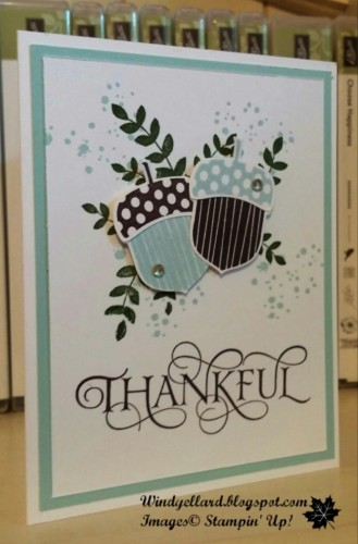Pals Paper Crafting Card Ideas Acorny Thank You Mary Fish Stampin Pretty StampinUp