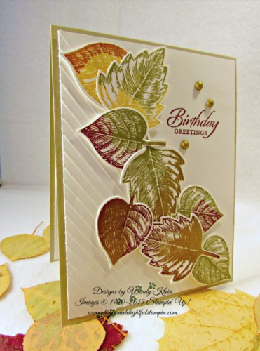 Pals Paper Crafting Card Ideas Falling Leaves Mary Fish Stampin Pretty StampinUp