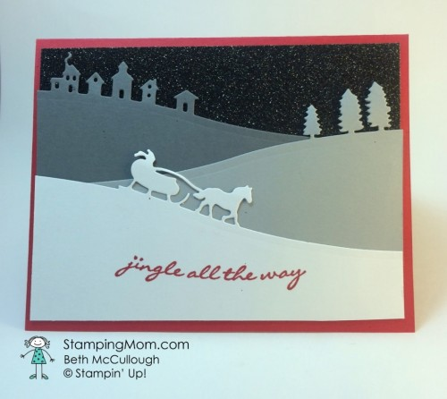 Pals Paper Crafting Card Ideas Jingle All the Way Mary Fish Stampin Pretty StampinUp