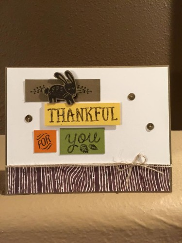Pals Paper Crafting Card Ideas Thankful for You Mary Fish Stampin Pretty StampinUp