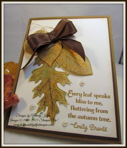 Pals Paper Crafting Card Ideas Vintage Leaves Mary Fish Stampin Pretty StampinUp