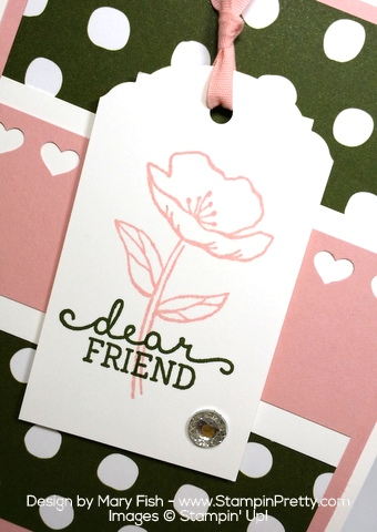 Stampin Up Birthday Blooms Card Idea Tag by Mary Fish