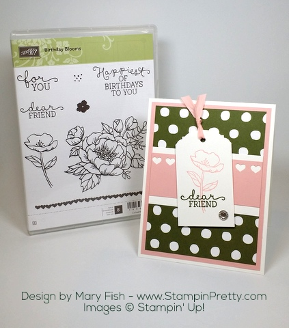 Stampin Up Birthday Blooms Card Ideas Images by Mary Fish