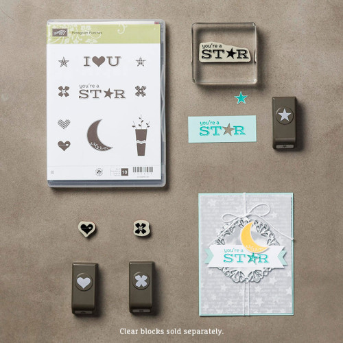Stampin Up Pictogram Punches Itty Bitty Accents Punch Pack Bundle