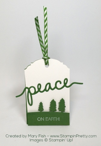 Stampin Up Sleigh Ride Edgelits Dies Christmas Holiday Tags by Mary Fish Peace