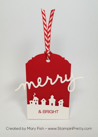 Stampin Up Sleigh Ride Edgelits Dies Christmas Holiday Tags by Mary Fish