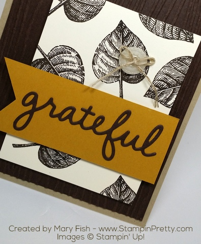 Stampin Up Vintage Leaves Autumn Card Ideas by Mary Fish