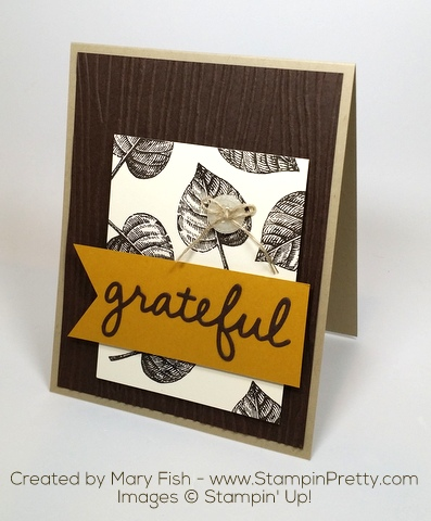 Stampin Up Vintage Leaves Autumn Card by Mary Fish