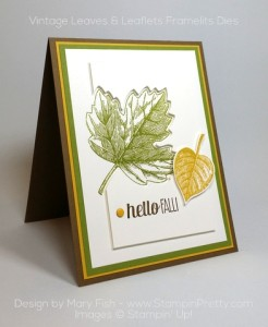 Stampin Up Vintage Leaves Leaflits Framelits Dies Mary Fish Stampin Pretty