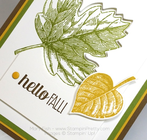 Stampin Up Vintage Leaves Leaflits Framelits Dies Mary Fish Stampin Pretty Autumn Card