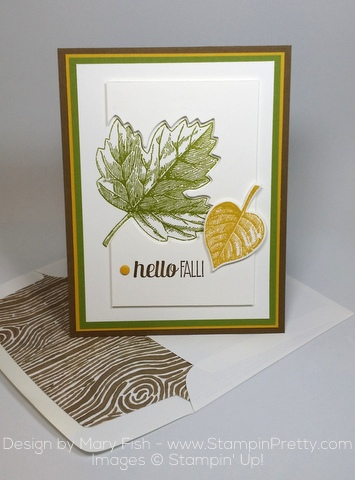 Stampin Up Vintage Leaves Leaflits Framelits Dies Mary Fish Stampin Pretty Autumn Cards