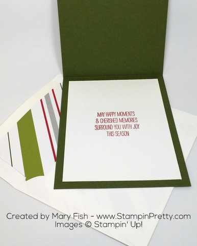 Stampin' Up! Wondrous Wreath Christmas Holiday Card Ideas by Mary Fish Interior