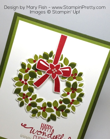 Stampin' Up! Wondrous Wreath Christmas Holiday Card Ideas by Mary Fish Magnetic Platform