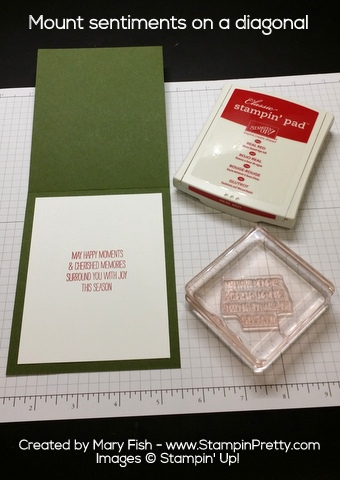 Stampin' Up! Wondrous Wreath Christmas Holiday Card Ideas by Mary Fish Tip