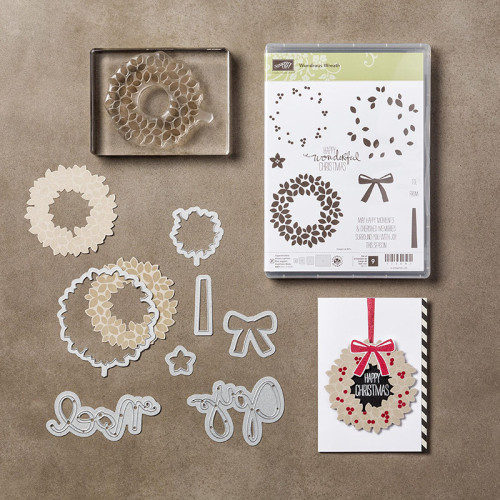 Wondrous Wreath Stamp Set and Wonderful Wreath Framelits Dies StampinUp