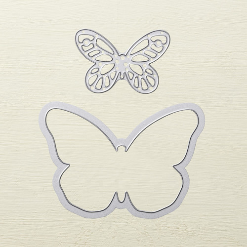 stampin up bold butterfly framelits dies