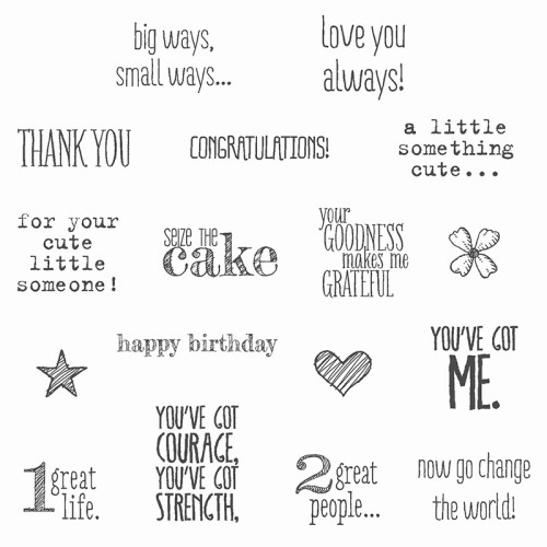 Something to Say Stamp Set Stampin Up