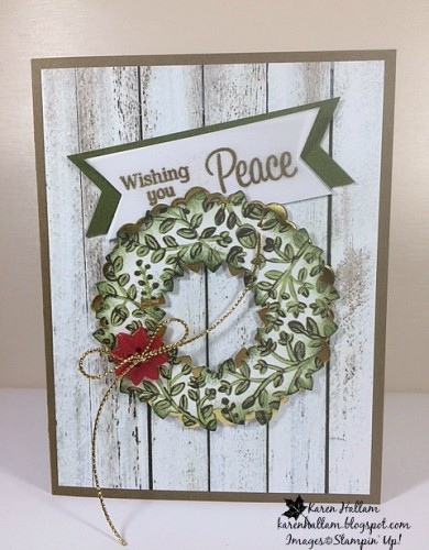 Pals Paper Crafting Card Ideas Peaceful Wreath Mary Fish Stampin Pretty StampinUp