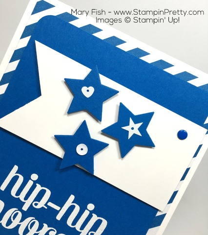 Stampin Up Bravo Congratulations Card Idea Stars By Mary Fish