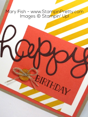 Stampin Up Hello You Thinlits Dies Birthday Card Idea by Mary Fish