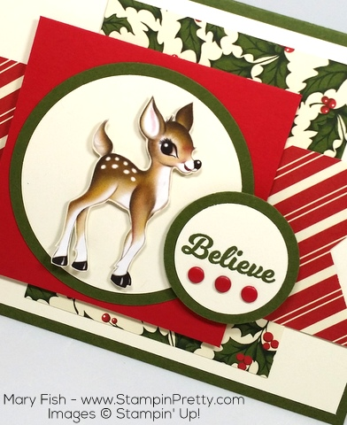 Stampin Up Home for Christmas Holiday Card Idea By Mary Fish Believe