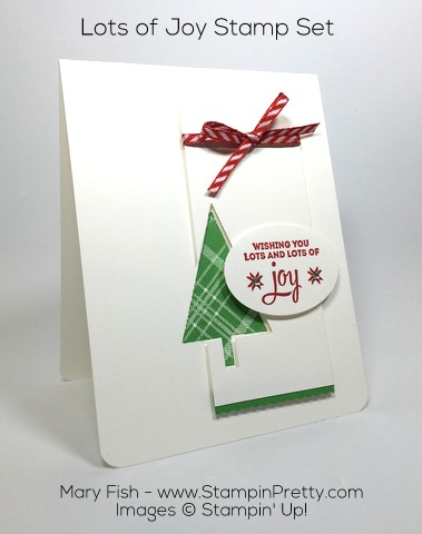 Stampin Up Lots of Joy Holiday Card By Mary Fish Pinterest