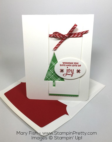 Stampin Up Lots of Joy Holiday Card Envelope Liner Die By Mary Fish