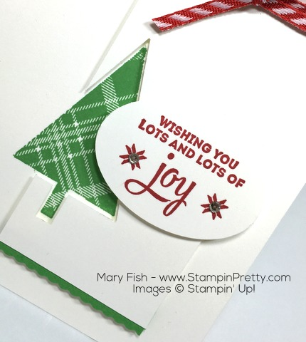 Stampin Up Lots of Joy Tree Punch Holiday Card By Mary Fish