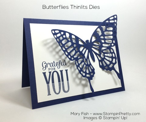 Stampin Up Merry Everything Butterflies Thinlits Dies By Mary Fish Pinterest